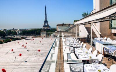Maison Blanche, terrazza con vista sulla Tour Eiffel